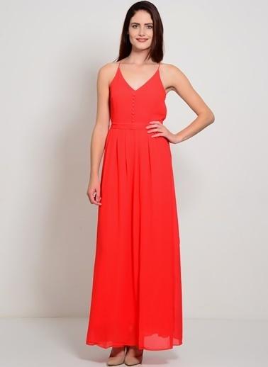 YAS İp Askılı Uzun Elbise Kırmızı